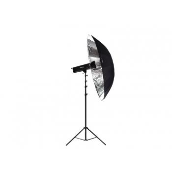 Ombrello Parabolico Argento e Nero